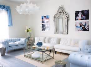 Light Blue Living Room Chairs Amazing Light Blue And White Living Room