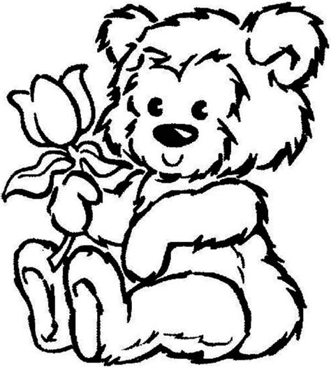 coloring pages of teddy bears with hearts plush teddy bear with heart coloring pages coolage teddy