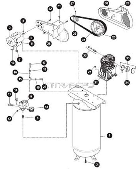 kobalt 60 gallon air compressor parts wiring diagrams