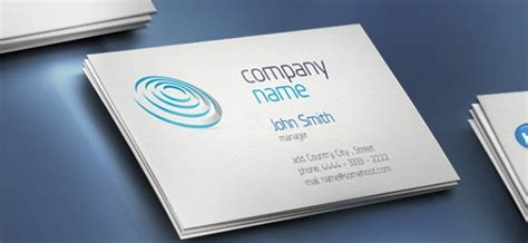 name card template psd free creative business card with company name psd file free