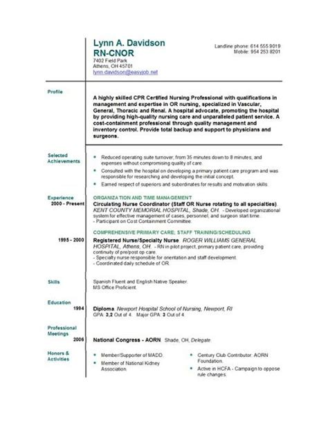 Sample Resume For Registered Nurse by New Graduate Nurse Resume Rn Sample Writing Resume