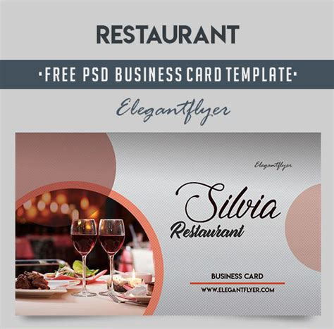 Restaurant Business Card Template Psd by 60 Free Premium Restaurant Templates Suitable For
