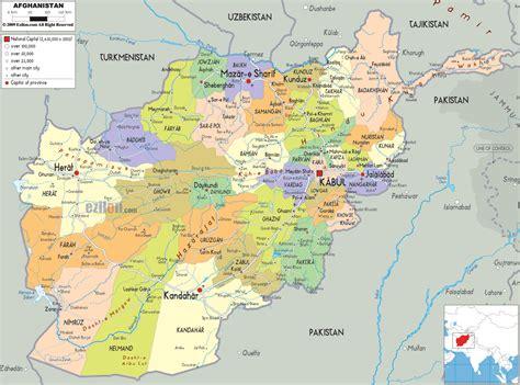 map of af political map of afghanistan ezilon maps