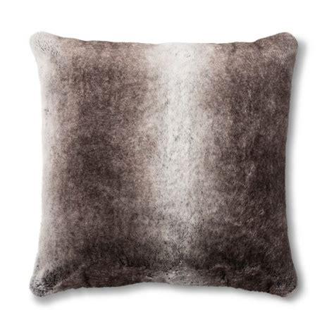 target pillow top neutral faux fur pillow fieldcrest 174 target