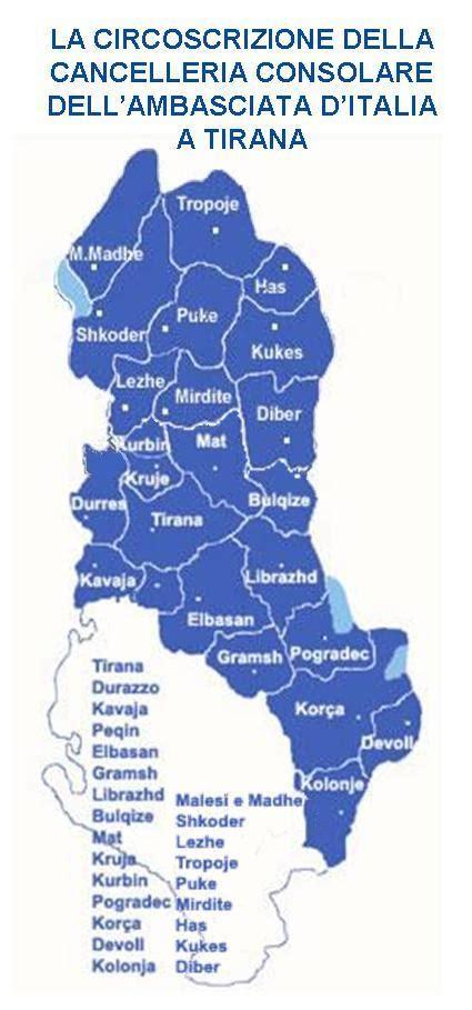 consolato albanese a orari la rete consolare
