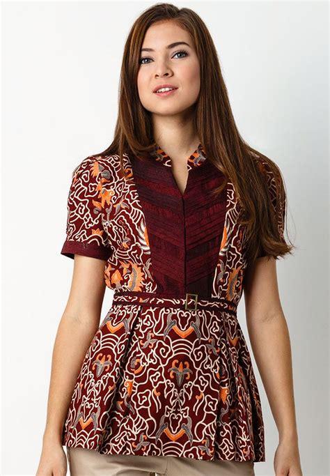 Angelia Blouse Atasan Baju Wanita Cewek Polos Batik Kemeja koleksi lengkap model baju batik kerja wanita kantoran