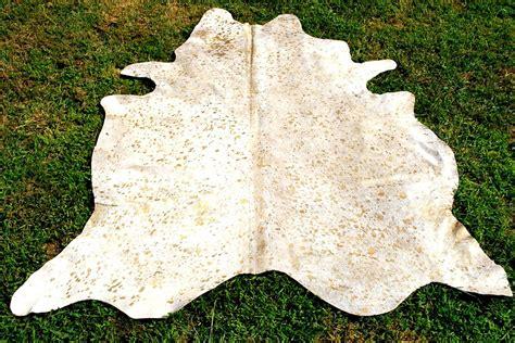 new cowhide acid wash gold cow hide rug skin ac9188