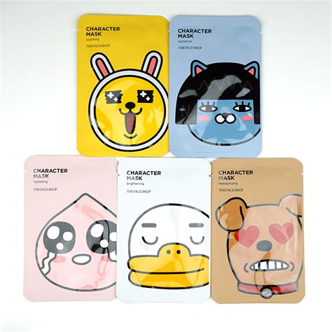 The Faceshop Character Mask Sheet the shop character mask kakao friends review