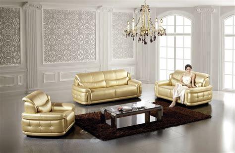 modern pcs gold leather sofa set shop  affordable