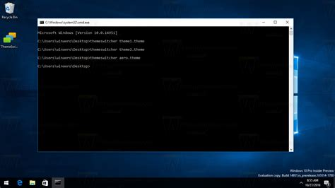 windows 10 themes changer change windows 10 theme from the command prompt