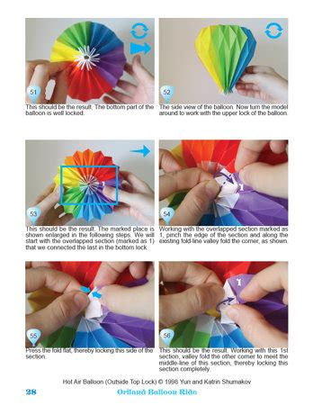 How To Make Origami Air Balloon - oriland oriland balloon ride