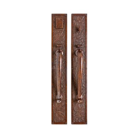 Rustic Front Door Hardware Front Door Custom Single With 2 Sidelites Solid Wood With Knotty Alder Finish Rustic