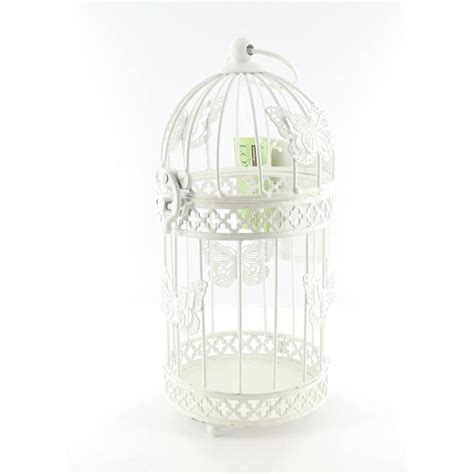 hobbycraft small decorative butterfly birdcage cream metal