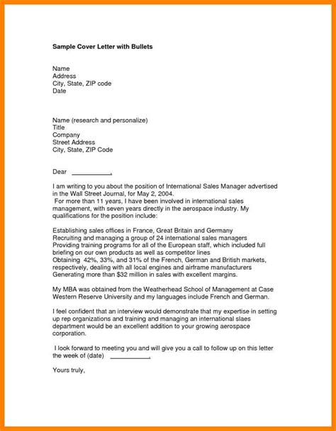development cover letter sle cover letter for a business