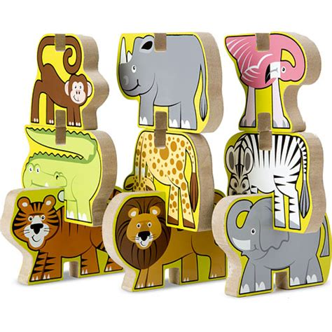 Chunky Puzzle Animal C stacking wooden chunky puzzle zoo animals kiddlestix toys