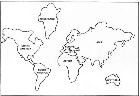 simple world map coloring page globe cut out template figure 1 base map for terra