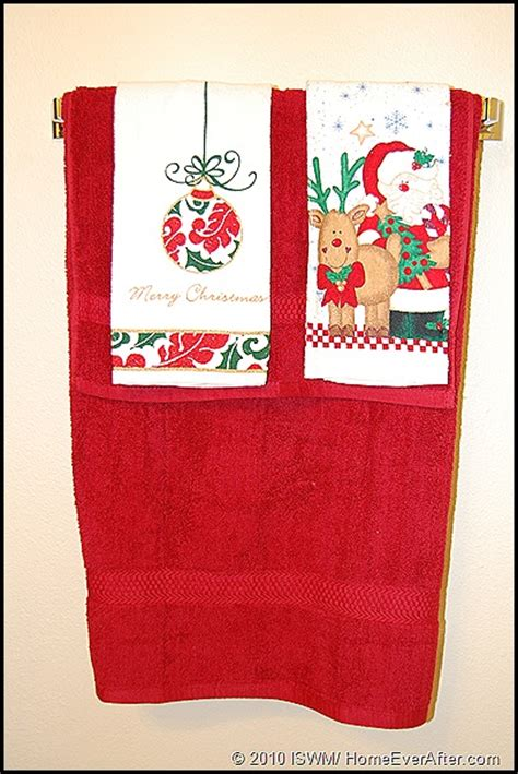 christmas towels bathroom 12 days of christmas home decor day 3 holiday bathroom