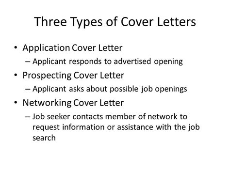 Different Types Of Cover Letters by Human Services Practicum Ppt