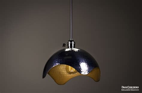 Gold Pendant Light Fixture Hammered Gold Brushed Nickel Edison Bulb Pendant Light Fixture Dan Cordero