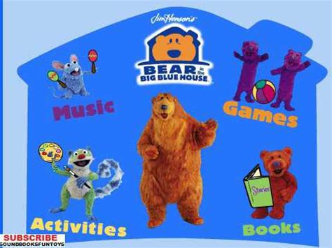 bear inthe big blue house music playhouse disney bear in the big blue house menu music