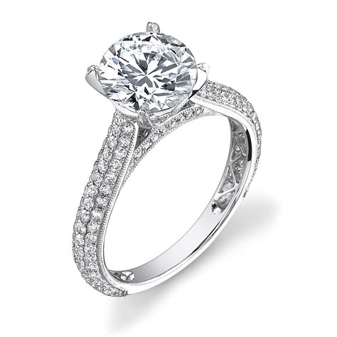 classic micro pave engagement ring
