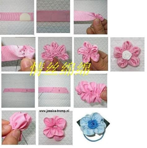 como hacer bordados con flores de liston flores de liston facilitas hair accessories