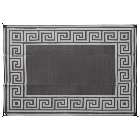 reversible motif patio mat 9 x 12 coffee brown