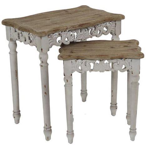 tavoli shabby chic set 2 tavolini shabby chic mobili provenzali shabby