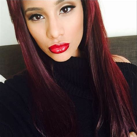 what color red is cyn santanas hair cyn santana love the color long story short hair