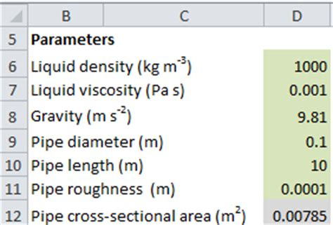 Pipe Cross Sectional Area Calculator by Balancing A Curve Against A System Curve Excel