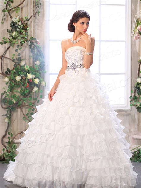 strapless ball gown wedding dresses with sang maestro
