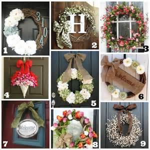 Diy Wreaths For Front Door Diy Front Door Wreaths Summer A Brighter