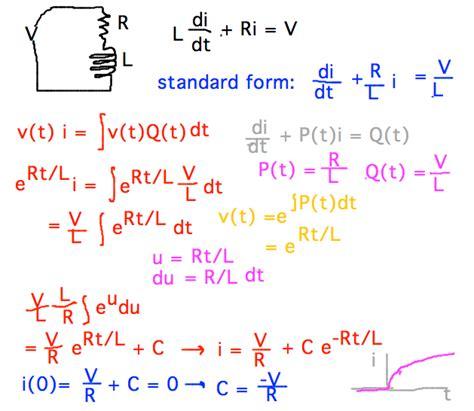 inductor v l di dt geneseo math 222 01 rl circuits