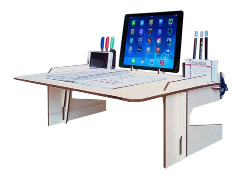 desk for bed laser cut wood bed desklaptop deskwood tablet standlaptop