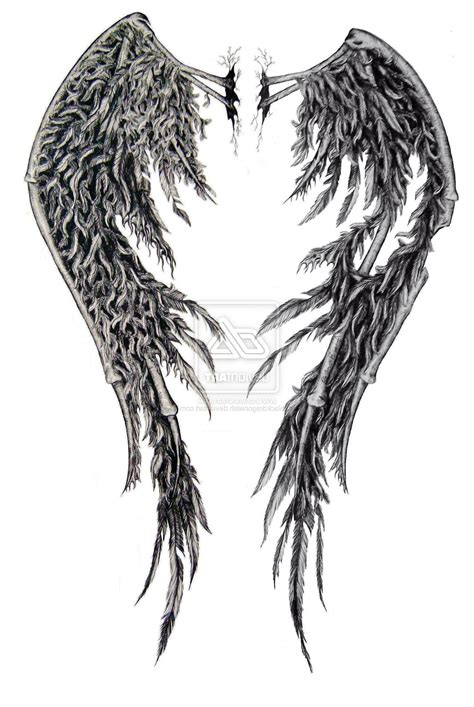 fallen angel wings tattoo designs wing designs free cool tattoos bonbaden