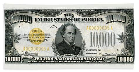 U.s. Ten Thousand Dollar Bill - 1934 $10000 Usd Treasury ... $10000 Bill For Sale