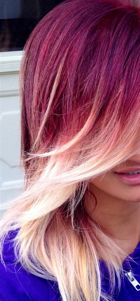 ombre with red and blonde red and blonde ombre hair hair colors ideas