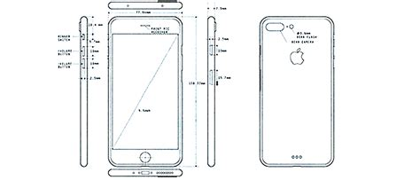 blue print size iphone 7 pro blueprint appears in a leaked image