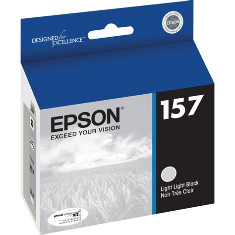 Ink Epson T1881 Black Epson 157 Light Light Black Ink Cartridge T157920 B H Photo