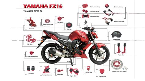 Bike Parts Motorrad by Fz16 Motorcycle Parts And Accessories For Yamaha