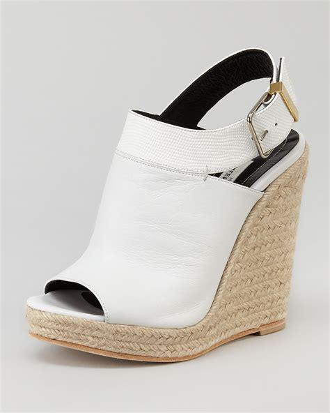 balenciaga wedge sandals balenciaga slingback glove wedge sandal white in white lyst