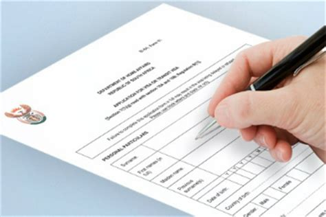 Exle Of Credit Application Form South Africa Applying For A Passport Western Cape Government