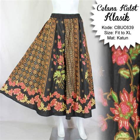 Kulot Celana Bawahan Batik Cap Katun Primis Wanita Murah 3 celana kulot klasik coklat celana murah batikunik