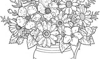 free printable flower coloring pages for adults printable coloring pages for adults flowers az coloring
