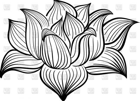 graphic lotus best free hd outline of lotus flower vector clipart