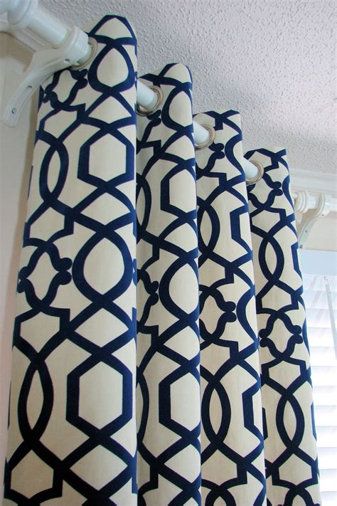 navy cream curtains grommet curtains curtains drapes and lattices on pinterest