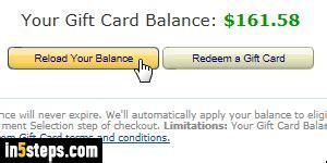 Add Money To Amazon Gift Card Balance - view amazon gift card balance and order purchases