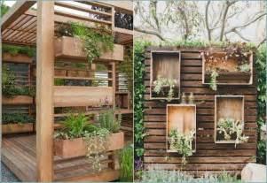 Deko Garten Modern Sichtschutz Gartenzaun Holz Streichideen Garten