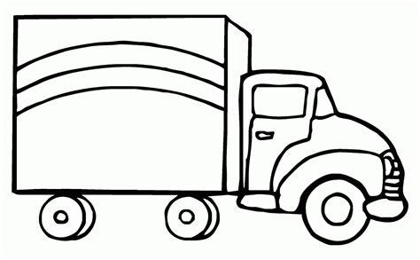 mewarnai gambar mobil truk box contoh anak paud
