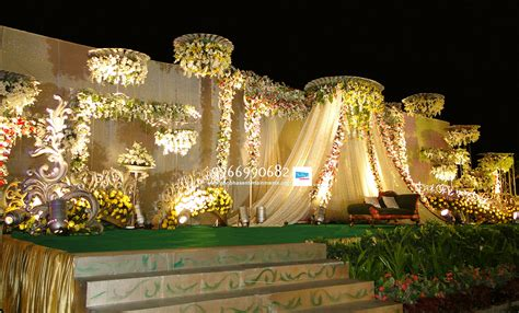 flower decoration wedding reception stages and stage flower decorators in hyderabad shobha s entertainments
